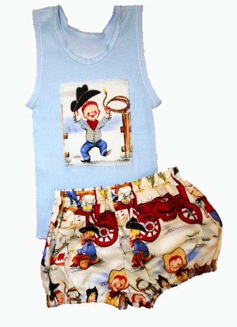bloomer set for little boys by Ollie Rose