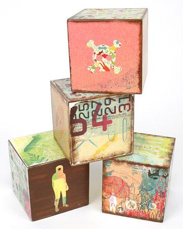 Decorate Baby Wooden Blocks