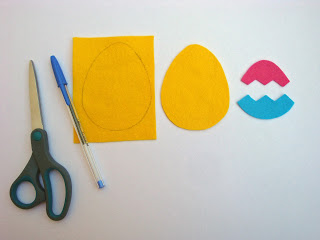 Step 1 - Trace the parts out for your Felt Easter Egg