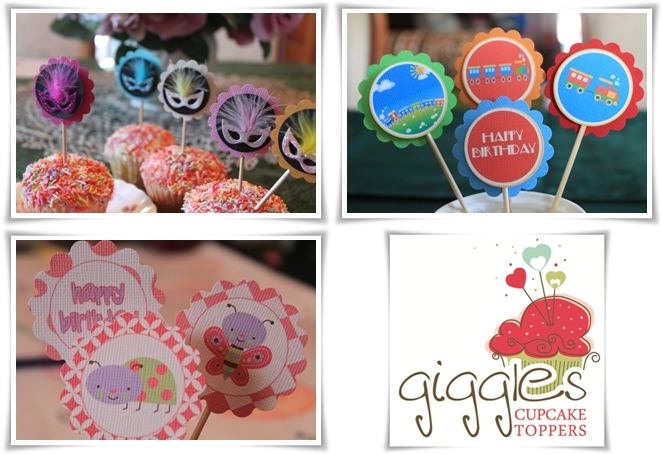 Introducing Giggles Cupcake Toppers