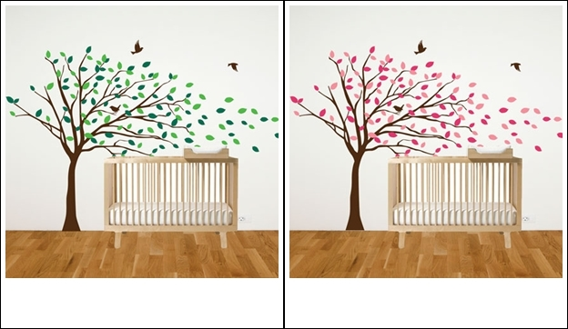 This large blowing tree will be the hero in your nursery arrange the leaves as you like on your wall obtaining the width you need