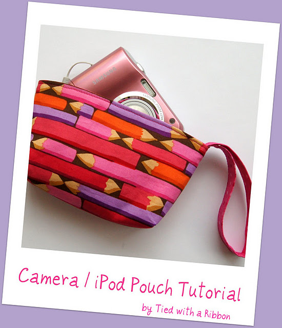 Camera Pouch Tutorial Cover 1 Make! Camera / Ipod Pouch