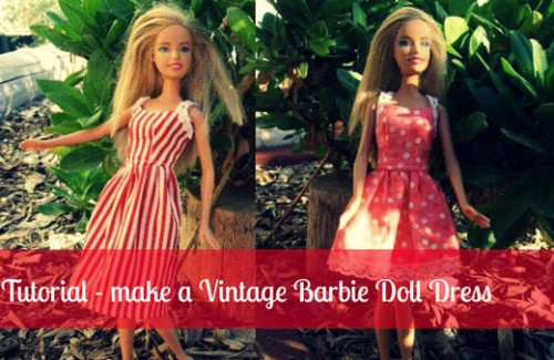 Make-a-Barbie-Doll-Vintage- Dress