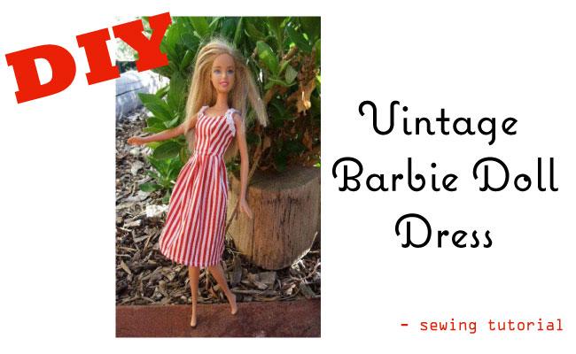 Make a Vintage-Barbie-Doll-Dress