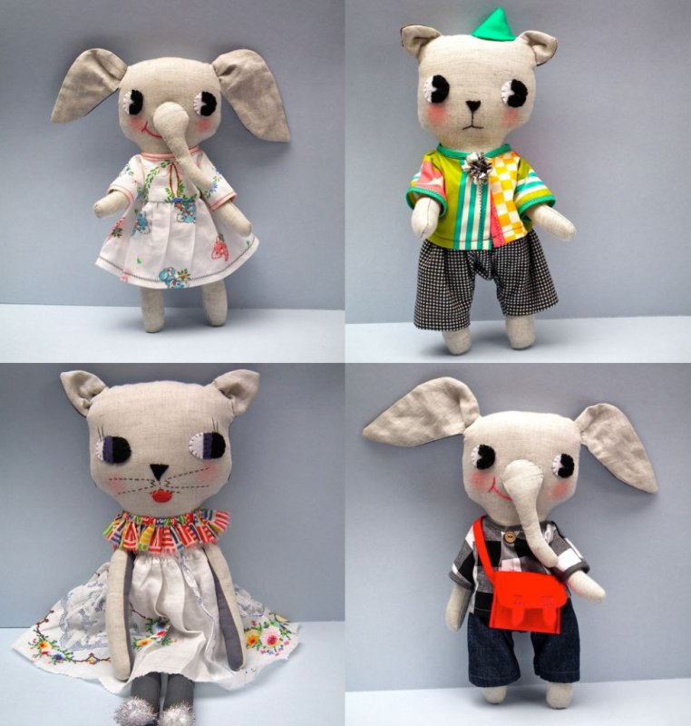 cloth and thread Dolls
