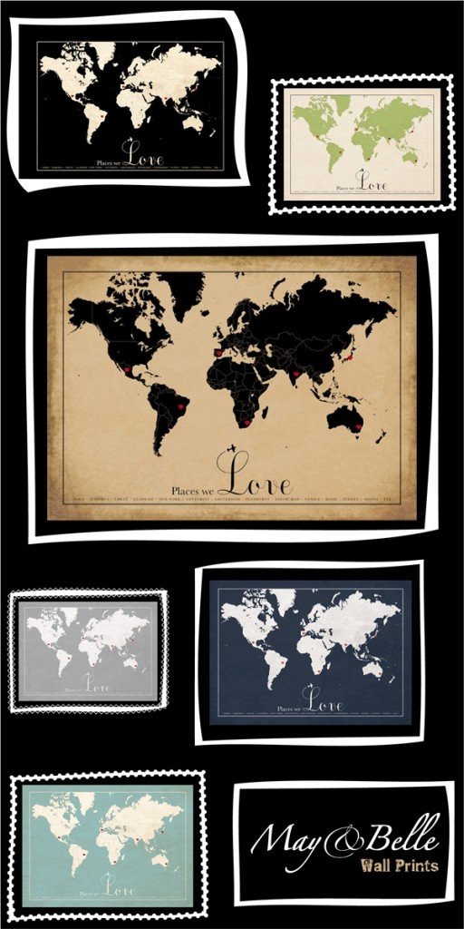 Handmade Kids print release vintage world maps1 512x1024 Introducing: May & Belle ~ Vintage World Maps