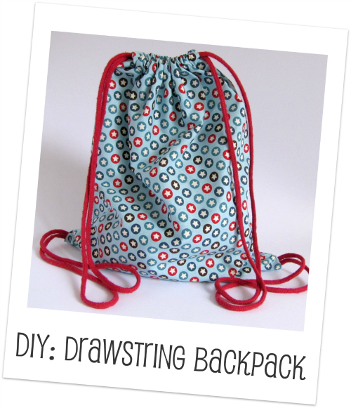Make a drawstring backpack