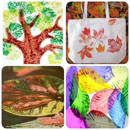 leaf printing projects
