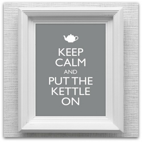 Keep Calm & Put the Kettle On print