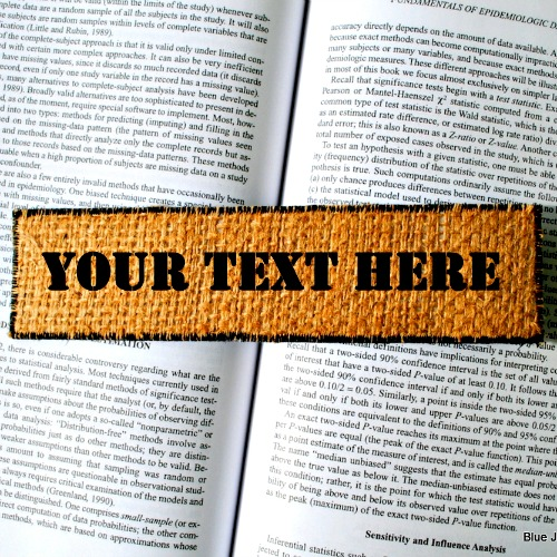 Personalised Burlap Bookmark