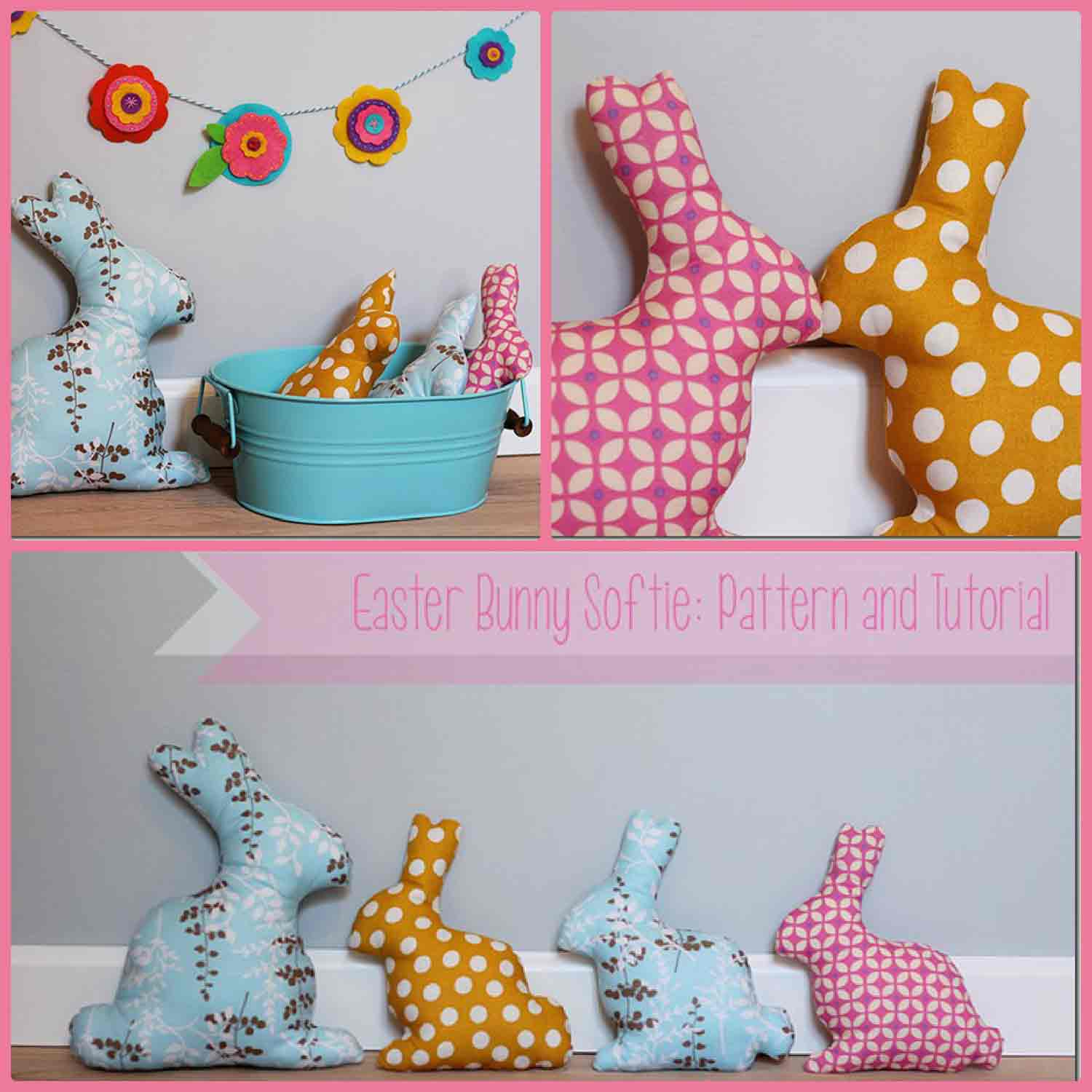 The Crafty Cupboard - Bunny Softies with Free Template