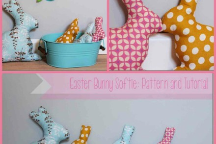 Tutorial make your own easter bunny softie
