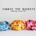 Fabric Toy Buckets