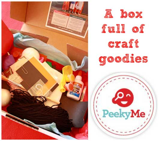 PeekyMe Box Spooky Halloween Craft with PeekyMe