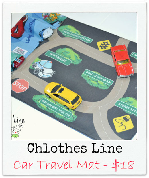 Chlothes-Line Handmade Car Travel Mat