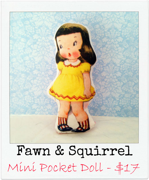 Fawn-&-Squirrel Handmade Pocket Doll