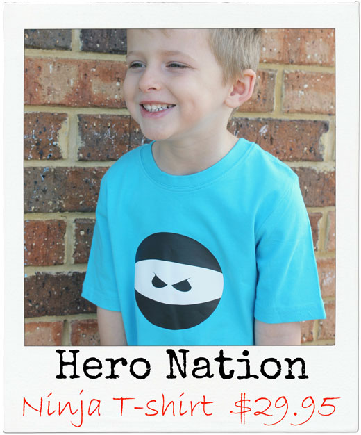 Hero Nation Ninja Tshirt Let's go Christmas Shopping! Goodies for the boys.