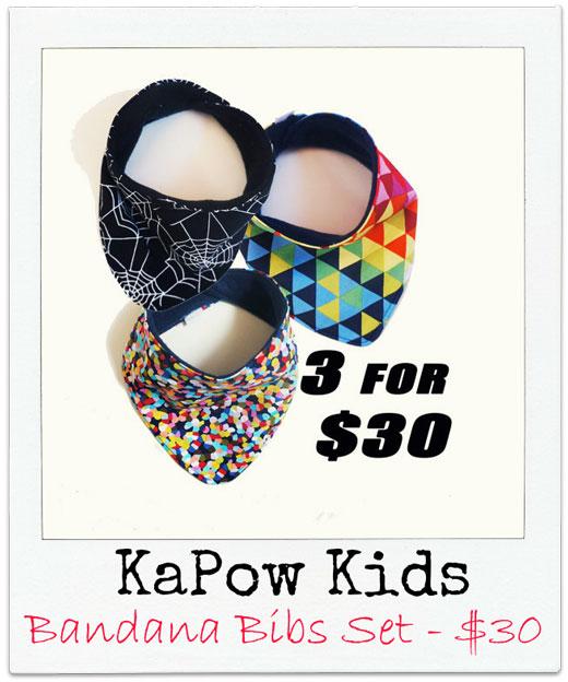 KaPow-Kids Handmade Bandana Bibs