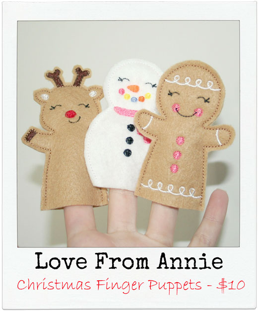 Love-from-Annie Christmas Finger Puppets