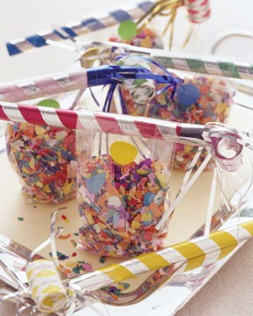 Confetti Bags 10 New Years Eve Craft Ideas