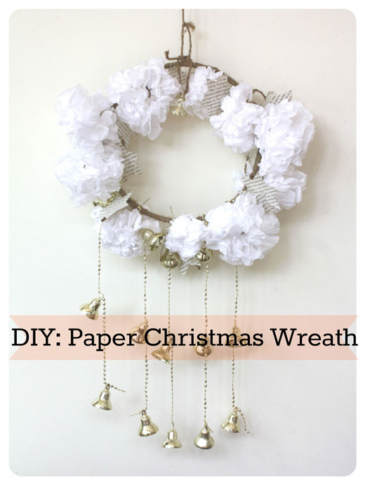 DIY Paper Christmas Wreath DIY: Paper Christmas Wreath