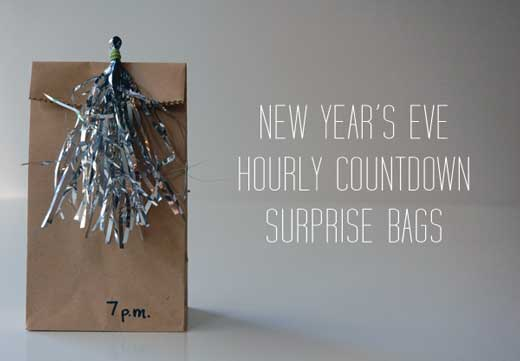 New years countdown bags 10 New Years Eve Craft Ideas
