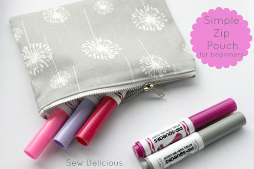 Sew-Delicious Zip Pouch Tutorial