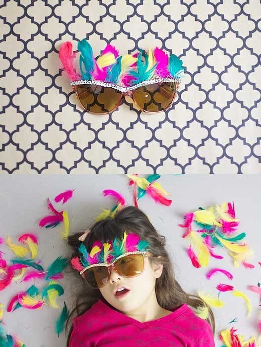Fun embellished Glasses Kids craft