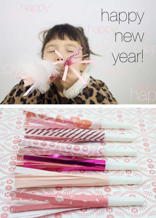 party blower tutorial 10 New Years Eve Craft Ideas