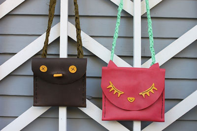 DIY-Leather-Pouches for kids