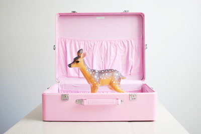 Pink Suitcase DIY Travel Kits for Your Children
