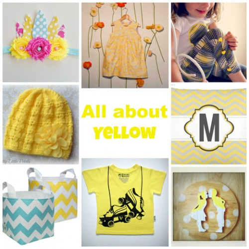 All-about-Yellow in January at Handmade Kids