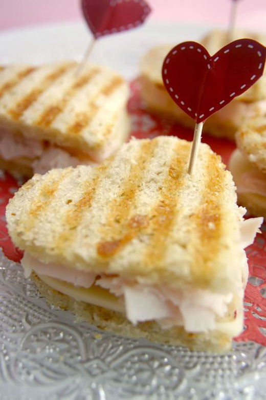 Heart-Shaped Toastie Sandwich