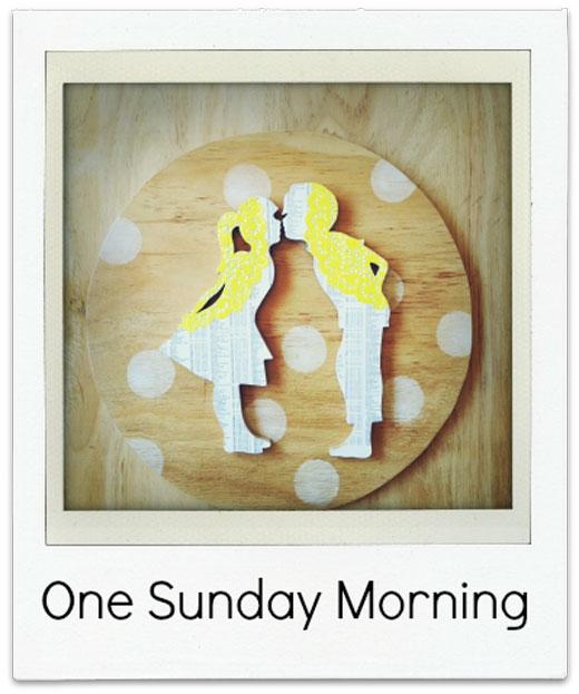 One-Sunday-Morning Handmade Wall hanging