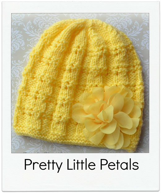 Pretty-Little-Petals Hand Knitted Beanie