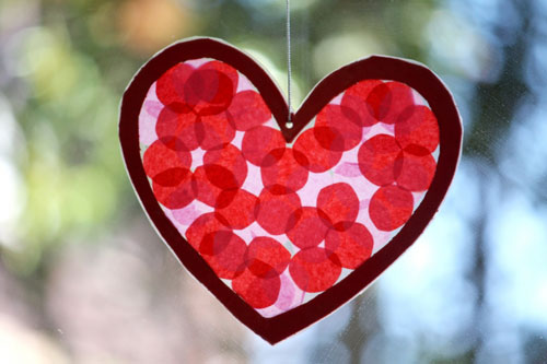 Stained Glass Heart Craft Kids Craft: Valentines Day Stained Glass Hearts