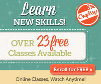 Learn New Skills over 23 f Do you know about Craftsy?