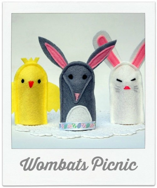 Wombats Picnic Finger Puppets