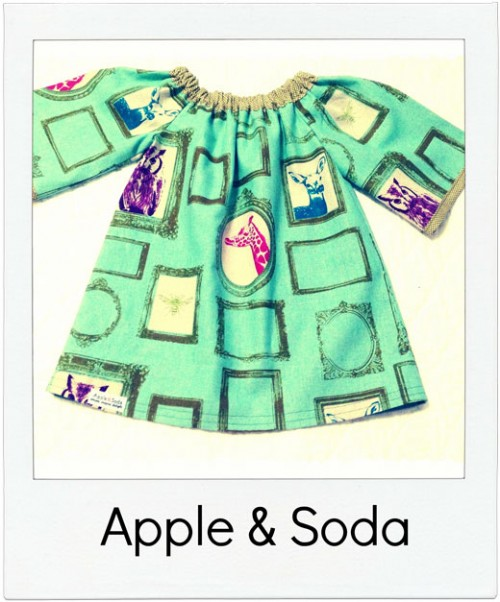 Apple-&-Soda handmade girls top
