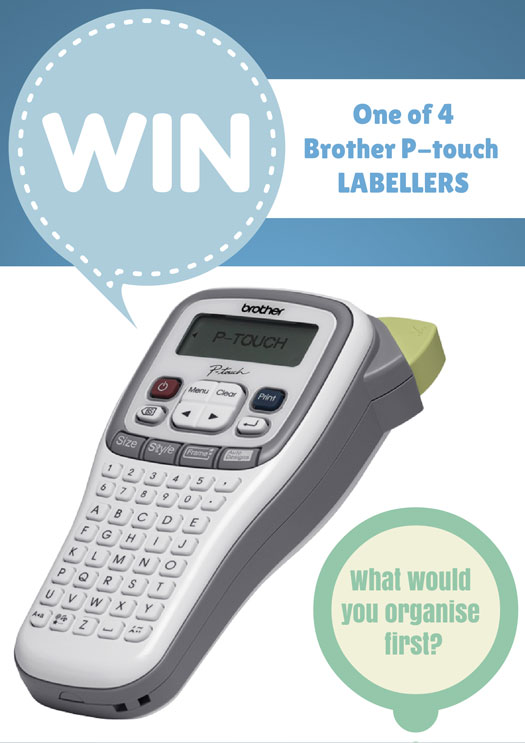 WIN a Brother p touch Label WIN: a Brother Labelling Machine and start organising