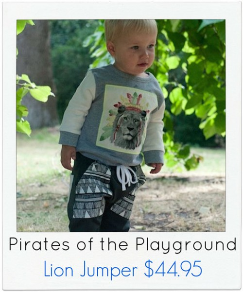 Pirates-of-the-Playground Boys Lion Jumper