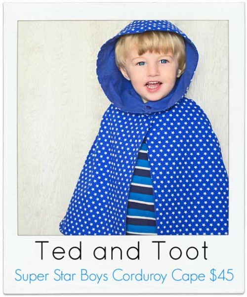 Ted-and-Toot Boys Cape