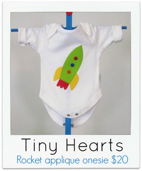 Tiny-Hearts Rocket onesie