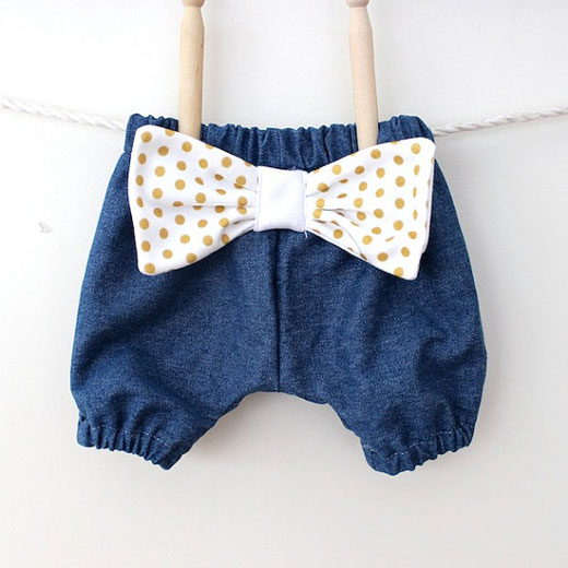 Baby Denim Bloomers The colour of June