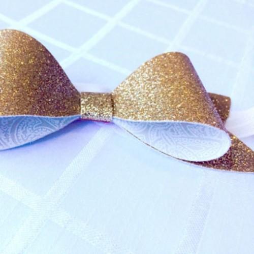Glitter-Bow-Headband