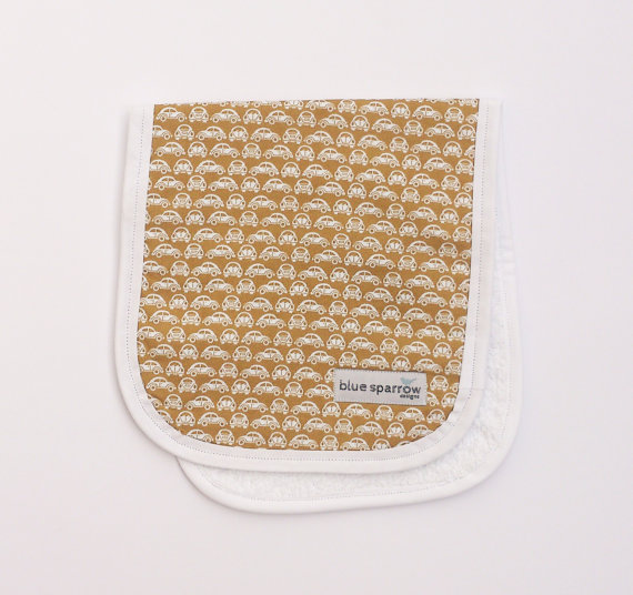 Retro Car Burp Cloth