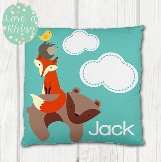 Woodland-Personalised-Cushion