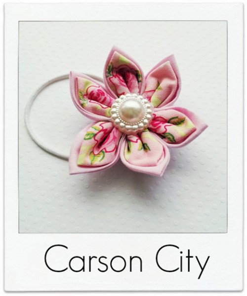 Carson-City Flower Hair Tie