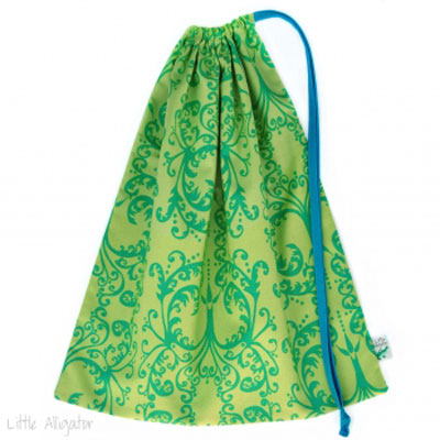 Little-Alligator Drawstring Bag