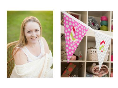 Handmade Kids Pink Christmas Bunting
